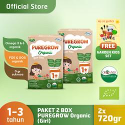Paket 2 Box PUREGROW Organic 720gr Girl Version free Garden Kids set