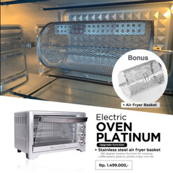 ECOHOME OVEN ELECTRIC PLATINUM 38 LITER EOP888