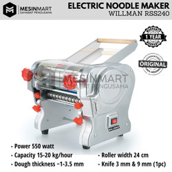 Mesin Penggiling Mie Noodle Maker WILLMAN RSS240 Body Stainless 24 cm