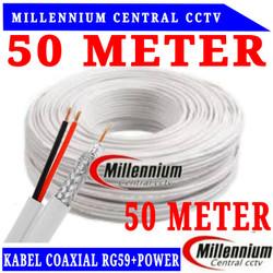 KABEL COAXIAL RG59 + POWER 50METER