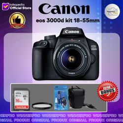 Kamera canon eos 3000d kit 18-55mm(paket lengkap)