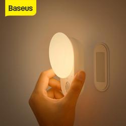 BASEUS LAMPU DINDING SENSOR OTOMATIS / MALAM / TIDUR LED FULL MOON