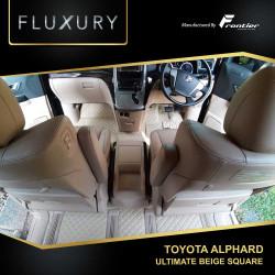 Karpet Mobil Fluxury Untuk Toyota Alphard Type Ultimate Beige Square
