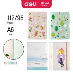 Deli Leather Notebook/Buku Tulis Sampul Kulit Pastel 96 Halaman SZ0XX