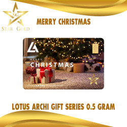 EMAS LOGAM MULIA GIFT SERIES LOTUS ARCHI 0,5GR 0,5GRAM MERRY CHRISTMAS