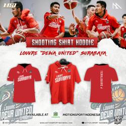 SS Shirt Hoddie Louvre Dewa United by Motion Sport Indonesia