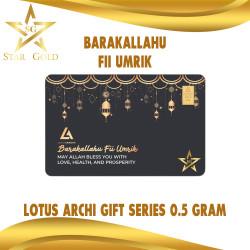 EMAS LOGAM MULIA GIFT SERIES LOTUS ARCHI 0,5GR 0,5 GRAM BARAKALLAHU