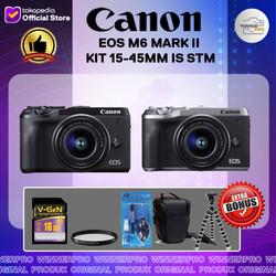 CANON EOS M6 MARK II KIT 15-45MM IS STM - PAKET LENGKAP