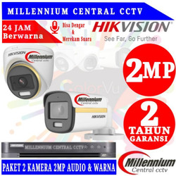 PAKET CCTV HIKVISION COLORVU AUDIO 2MP 2 CHANNELL HDD 500GB + 50METER