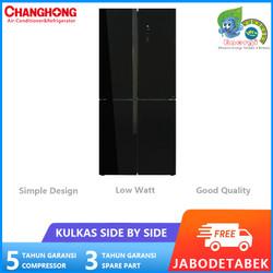 CHANGHONG Kulkas 2 pintu 520L Side by Side black CRF-580