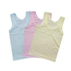 WakaKids Kaos Dalam Anak Bayi Singlet Motif Jala Warna 3 Potong