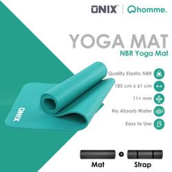 Onix Matras Yoga Mat Yoga Anti Slip Karet Berkualitas Lembut 11mm