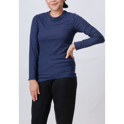 Come Soft Ribbed Turtleneck 391 Navy