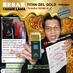 OBAT *PEMBESAR* alat vital Pria Titan Gel Gold Asli licence Rusia