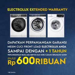 Perpanjangan Garansi Mesin Cuci Front load Electrolux 1 Tahun