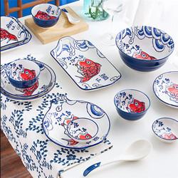 UCHII SAKANA Set PREMIUM Tableware Gift Set   44pcs Alat Makan Keramik