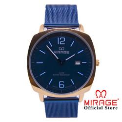 Miragewatch Official Jam Tangan Pria Rantai Geser 8720M Biru Rosegold