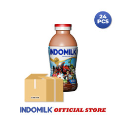 Indomilk Susu Botol Cokelat 190 ml X 24 Pcs