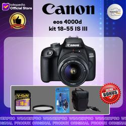 Kamera Canon Eos 4000d Kit 18-55 IS III PROMO