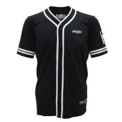 Snapback Baju Baseball Kancing Hitam Angka
