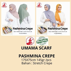 Jual PASHMINA CREPE by Umama Scarf RANDOM WARNA 21.500 pashmina polos