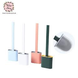 VS - Sikat Kloset Silikon WC Toilet Brush Desain Korea Warna Shabby