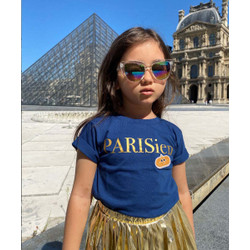 Kids Talk About Parisien Holiday Tee Gold Patch Limited Edition Unisex