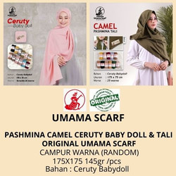 Hijab PASMINA CAMEL CERUTY BABY DOLL I PASHMINA CAMEL TALI jilbab
