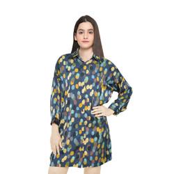 Luxatme Dress Long Sleeve Bubble Blue VSDRLS-1220-01