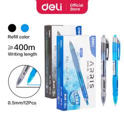 Deli Ultra Smooth Ink Office Gel Pen/Pulpen Gel 0.5mm Tinta Hitam EG08