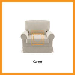 Ridente | Sofa Minimalis Custom 1 Seater Tipe Carrot