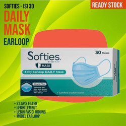 SOFTIES Masker Earloop Daily Mask 3 Ply (30 Pcs)