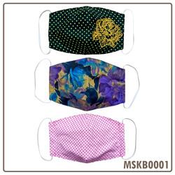 Masker Kain 3 ply - 3 pcs/set - MSKB0001