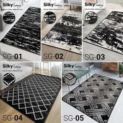 [GRATIS ONGKIR] Karpet Silky Galaxy 100X150 (Monochrome Edition)