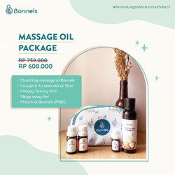 Massage Oil Package (Soothing Massage Oil dan 3 Essential Oil)
