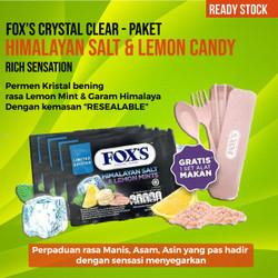 Permen FOX Himalayan salt lemon mint candy free alat makan limited