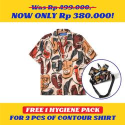 Kemeja Motif Pria / Contour / Contour Munch Shirt