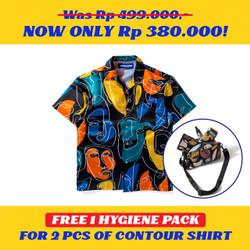 Kemeja Motif Pria / Contour / Contour Picasso Shirt