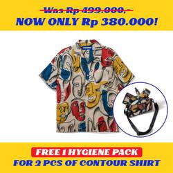 Kemeja Motif Pria / Contour / Contour Kadinsky Shirt