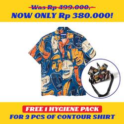 Kemeja Motif Pria / Contour / Contour Personnage de Miro Shirt