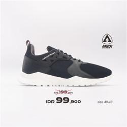 Aerostreet 40-43 Betroya Hitam - Sepatu Sneakers Casual Sport Sekolah