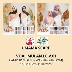 Jilbab segiempat motif VOAL MULAN LC umama scarf RANDOM MOTIF & WARNA