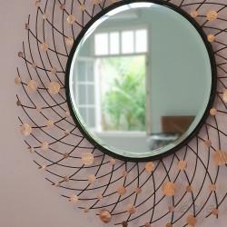 Hiasan Dinding Cermin Dekorasi Interior Minimalis Diameter 95cm