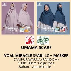 Jilbab VOAL MIRACLE SYARI MASKER LC Umama Scarf Kerudung Segiempat
