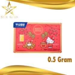 LOGAM MULIA UBS GIFT SERIES HELLO KITTY 0.5GR 0.5 GR CHINESE NEW YEAR