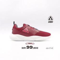 Aerostreet 37-40 Enola Maroon - Sepatu Sneakers Sport Pria Wanita Aero