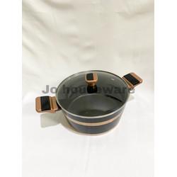 Panci saucepot teflon anti lengket diameter 24 cm premium copper
