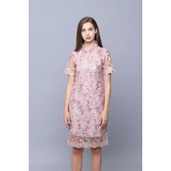 Pink Classic Cheongsam Dress ORION by Plopherz