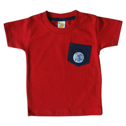 PLEU T-Shirt Kantong Patch Dino - Baju Anak Bayi Laki