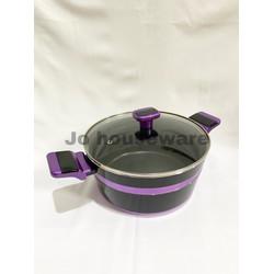 Panci saucepot teflon lis anti lengket diameter 24 cm premium ungu